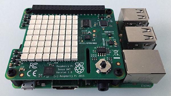 RPi Sense Hat pixel front