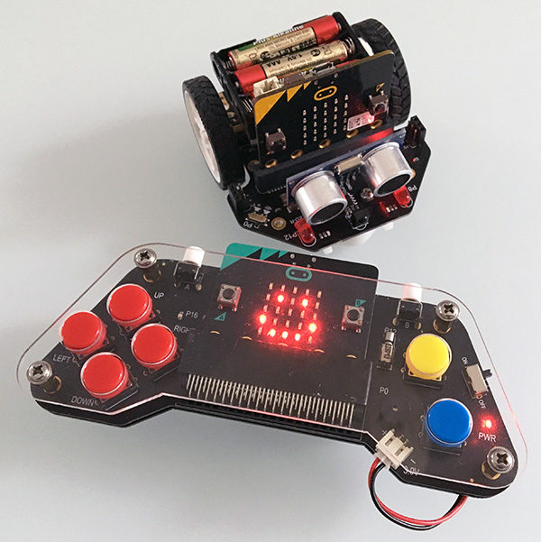 microbit robot car joystick