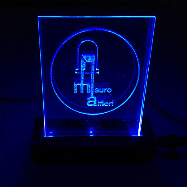 logo backlight lasercutted