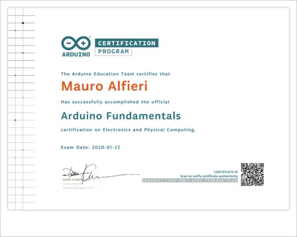 Certificazione Arduino foundamentals