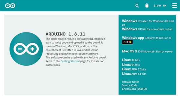 nuovo Arduino IDE 1.8.11