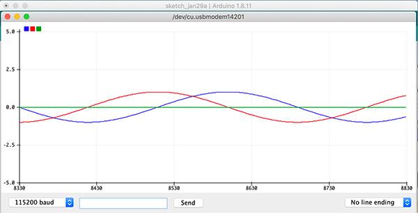 plotter seriale nuovo arduino ide 1.8.11