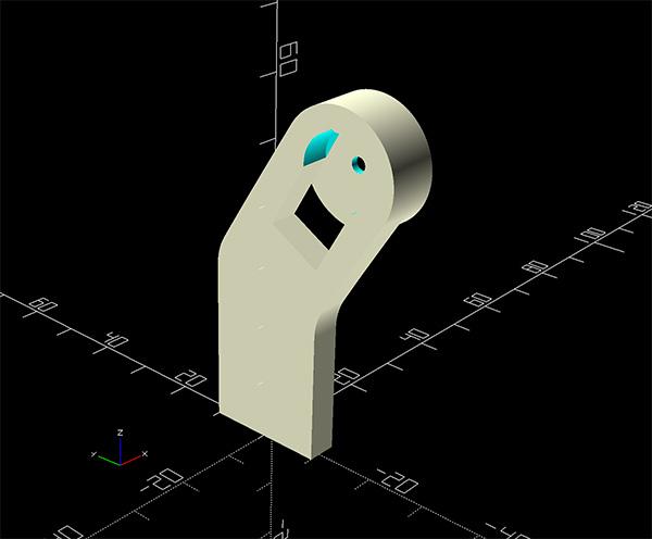 robot arm 3d printed openscad epaule spalla shoulder