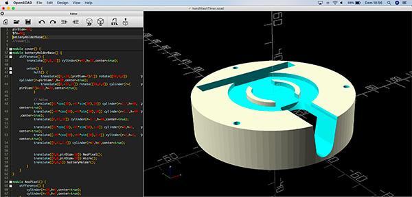 hand wash timer 3D parts base openscad