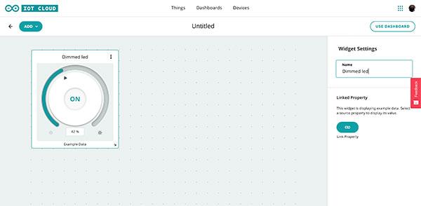 Arduino IoT Dashboard cange name widget