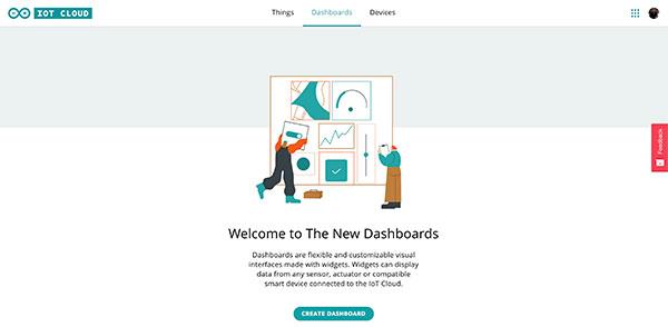 Arduino IoT Dashboard click Dashboard