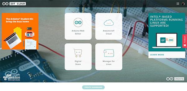 Arduino IoT Dashboard login