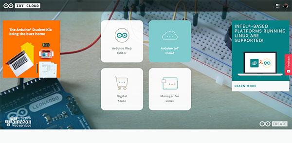 Arduino IoT Dashboard select IoT Cloud