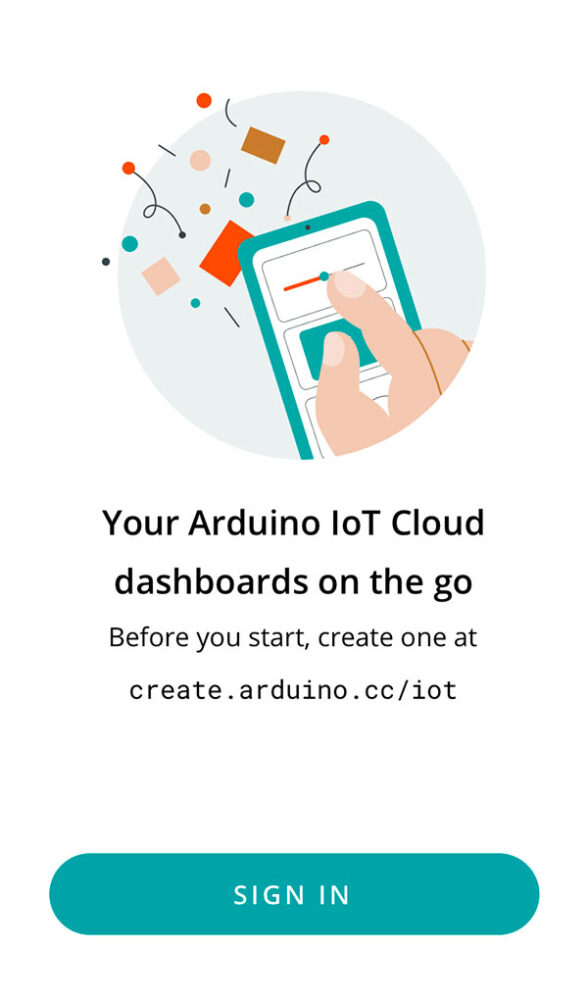 arduino iot remote app test start signin