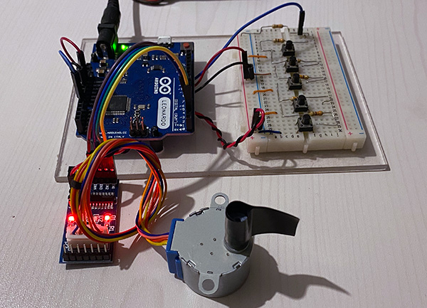 stepper 28BYJ-48 arduino project
