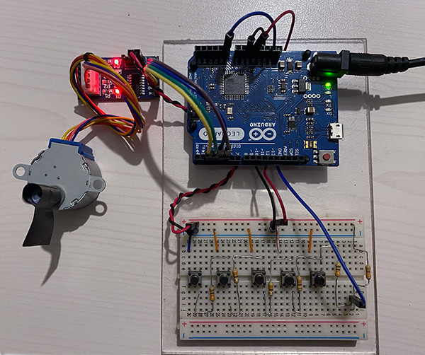 stepper 28BYJ-48 arduino top