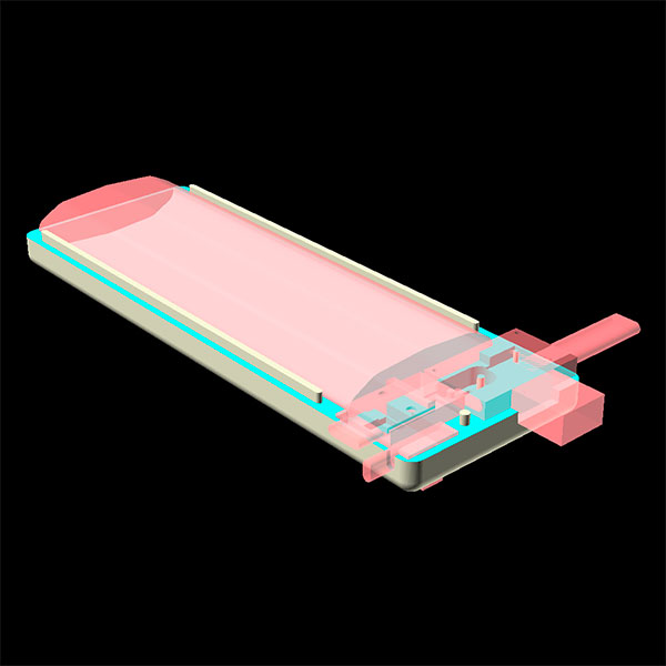 power bank 4000 3d model case bottom components