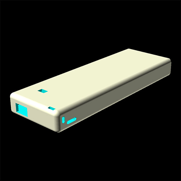 power bank 4000 3d model case