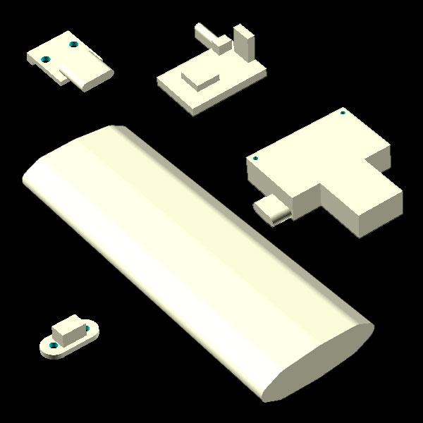 power bank 4000 3D model components