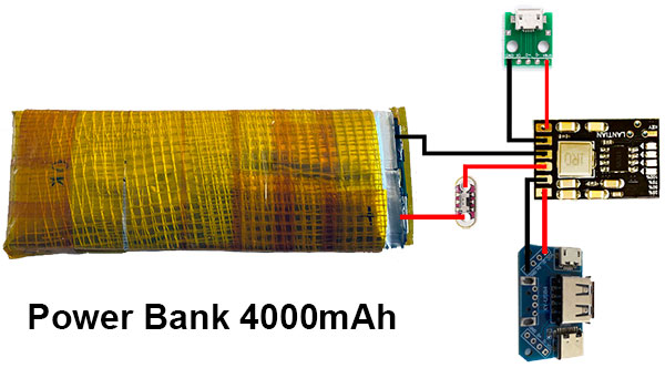 power bank 4000 assembly schema