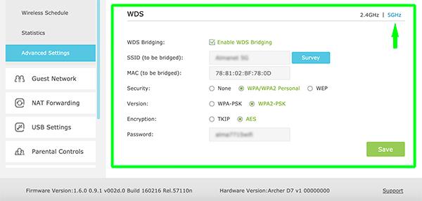 tp-link WDS 5g config WDS configura una rete wifi to wifi