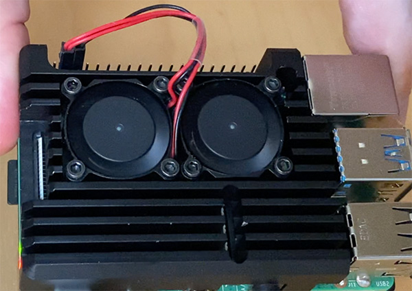 Raspberry Pi 4 cooler movimento