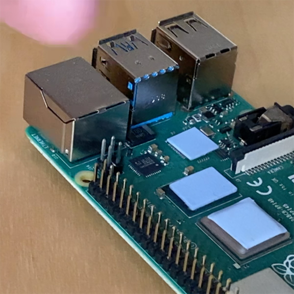 Raspberry Pi 4 cooler termal pad