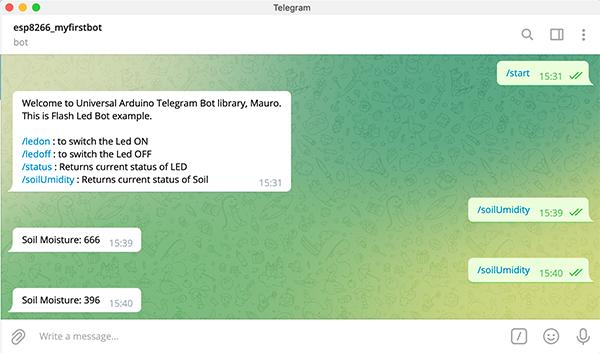 capacitive soil moisture sensor wemos telegram bot data
