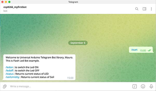 capacitive soil moisture sensor wemos telegram bot start